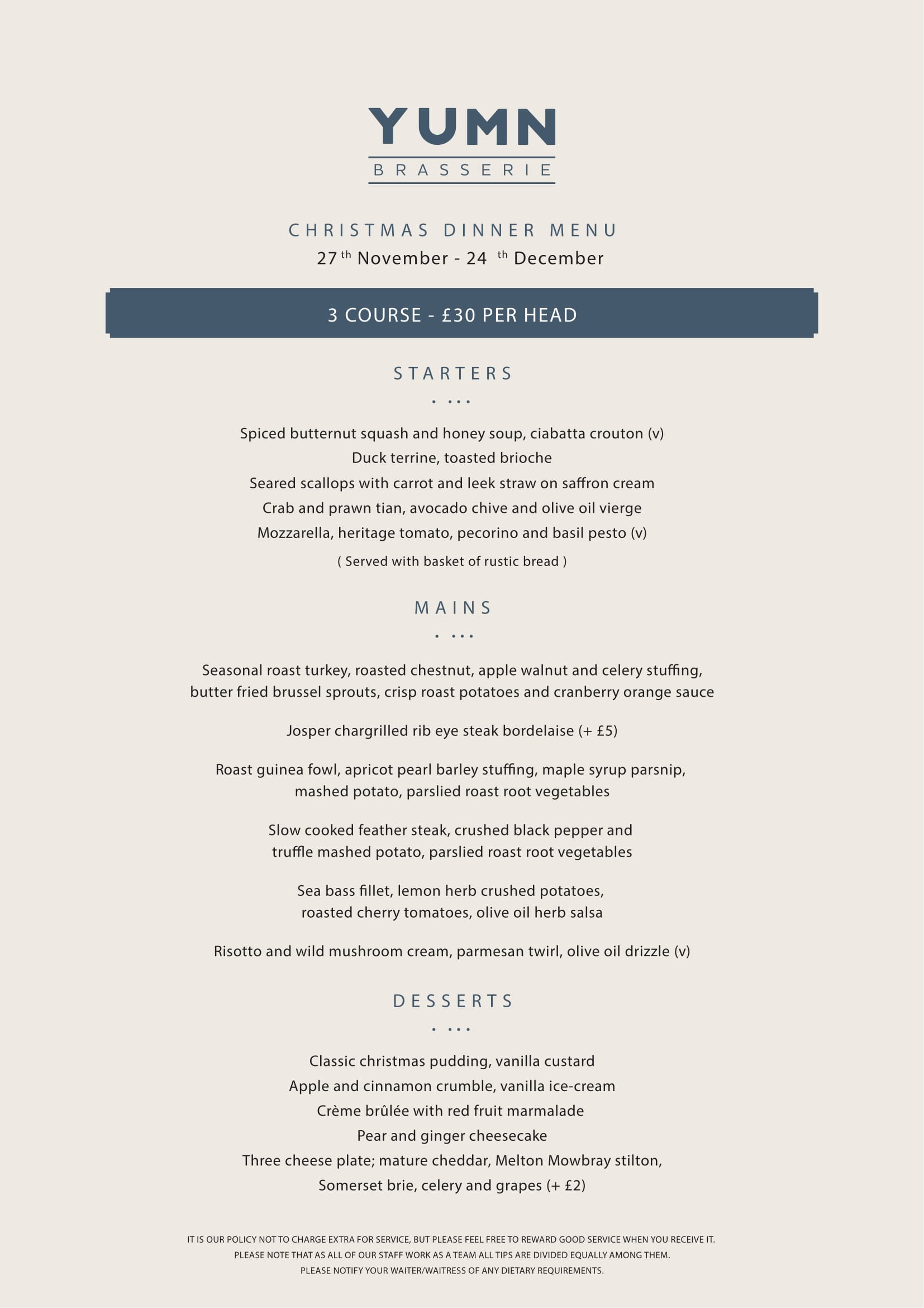 Yumn Brasserie Christmas Dinner Menu-page-001